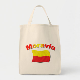 Moravia Flag 3 Grocery Tote Bag