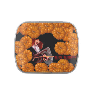 More and more Pumkins - Halloween Candy Tin