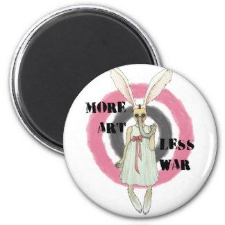 More Art Less War Magnet