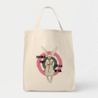 More Art Less War Tote Bag