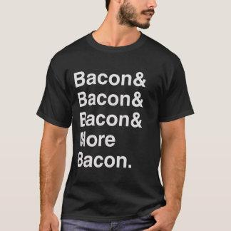 More Bacon Helvetica Tee Shirt