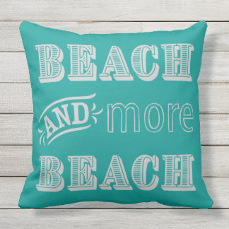 More Beach Retro Pillow