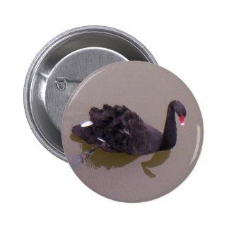 More Black Swan 6 Cm Round Badge