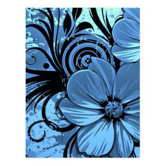 More blue flowers postcard