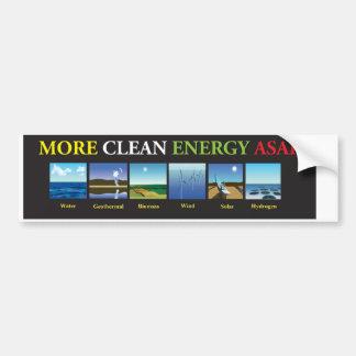 More Clean Energy ASAS WO Bumper Sticker