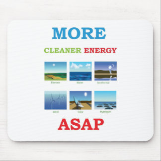 more cleaner energy asap mouse pad