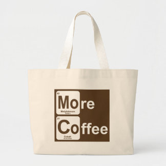 More Coffee Periodic Table Large Tote Bag