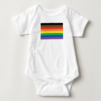 More Color More Pride Rainbow Customizable LGBT Baby Bodysuit