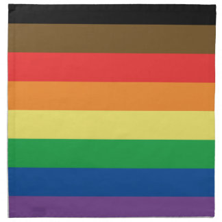 More Color More Pride Rainbow Customizable LGBT Napkin