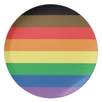 More Color More Pride Rainbow Customizable LGBT Plate