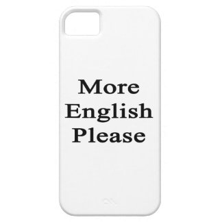 More English Please iPhone 5 Cover