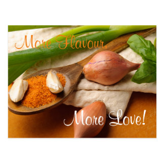 More Flavour, More Love Herbs and Spices Postcard