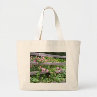 More Flowers on a Fence Tote Bag