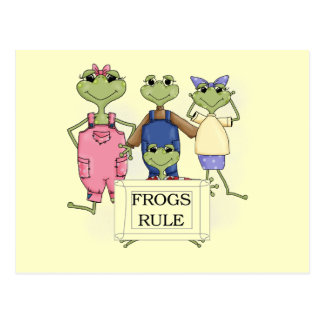 More Frogs Rule Tshirts and Gifts Postcard