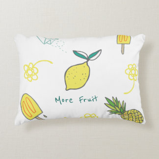 More Fruit Including Lemons and Pineapples Decorative Cushion