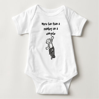 More Fun Than A Monkey on a Unicycle baby Baby Bodysuit