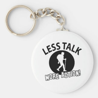More Hiking less talk Keychains