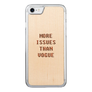 More issues than Vogue Carved iPhone 7 Case