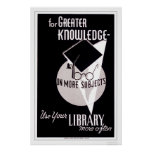 More Knowledge Library 1940 WPA Poster