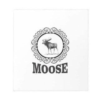 more moose ring notepad