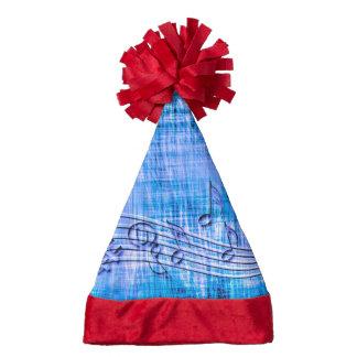 more music blue santa hat