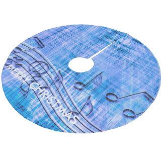more music blue tree skirt