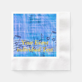 more music blue disposable napkin