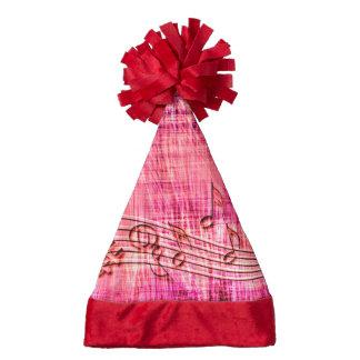 more music pink santa hat