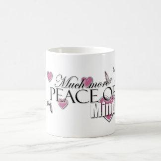 More peace of mind basic white mug