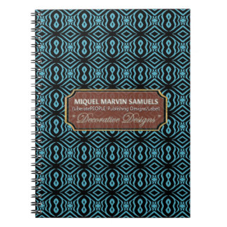 More Peanuts Zebra Pattern Blue Black Notebook