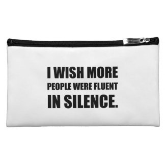 More People Fluent In Silence Cosmetic Bag