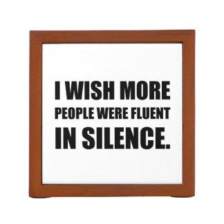 More People Fluent In Silence Desk Organiser