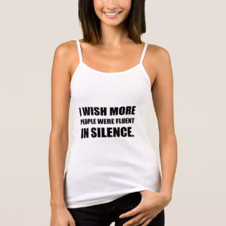 More People Fluent In Silence Singlet