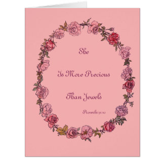 More Precious Pink New Baby Greeting Cards