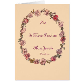 More Precious Quote Beige Greeting Cards