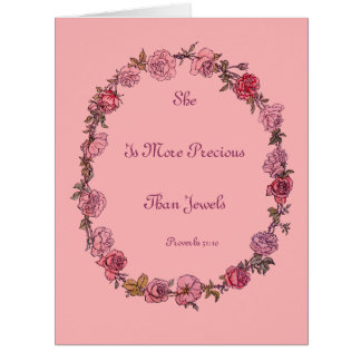 More Precious Quote Pink Greeting Cards