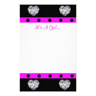More Precious Than Diamonds Girly Baby Shower Stationery