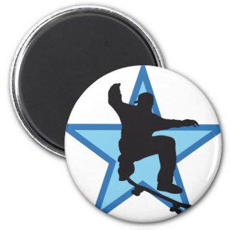 more skater 6 cm round magnet