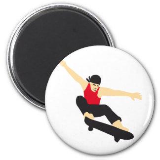 more skater refrigerator magnet