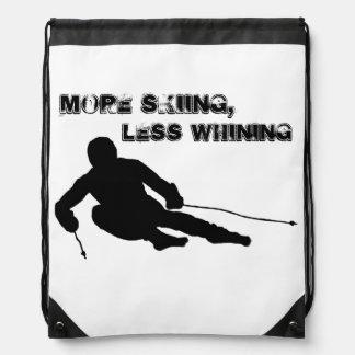 More skiing, Less whining Drawstring Bags
