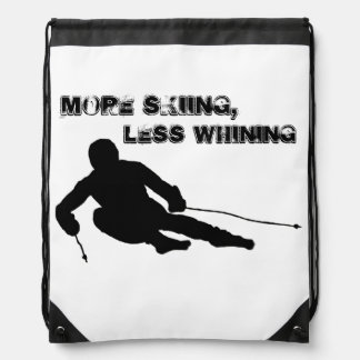More skiing, Less whining Drawstring Bags