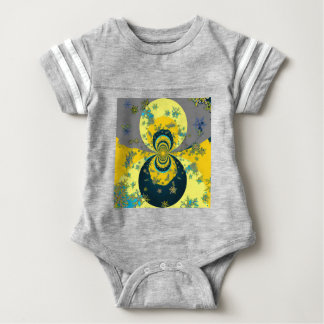 """MORE SNOW IN FORECAST"" YELLOW BLUE ART BABY BODYSUIT"