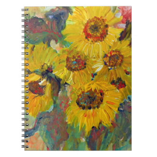 more sunflower writing PAD Spiral Note Book