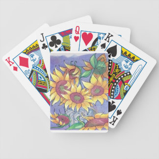 More sunflowers bicycle playing cards