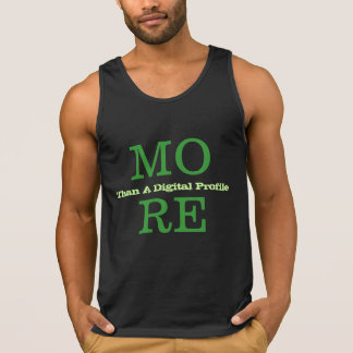 More Than A Digital Profile Tank Tops