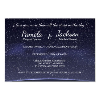 More Than All The Stars-3x5Engagement Party Invite
