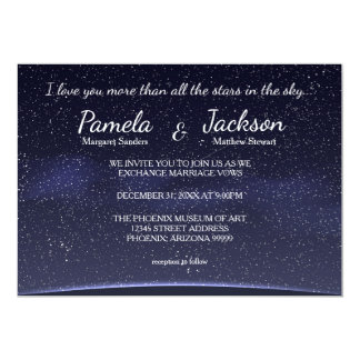 More Than All The Stars - Wedding Invitation