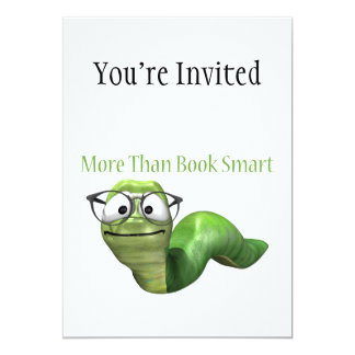 More Than Book Smart Book Worm Card