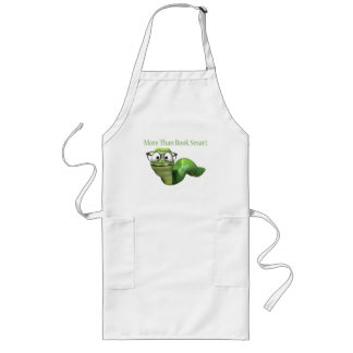 More Than Book Smart Book Worm Long Apron