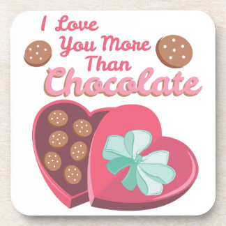 More Than Chocolate Beverage Coaster